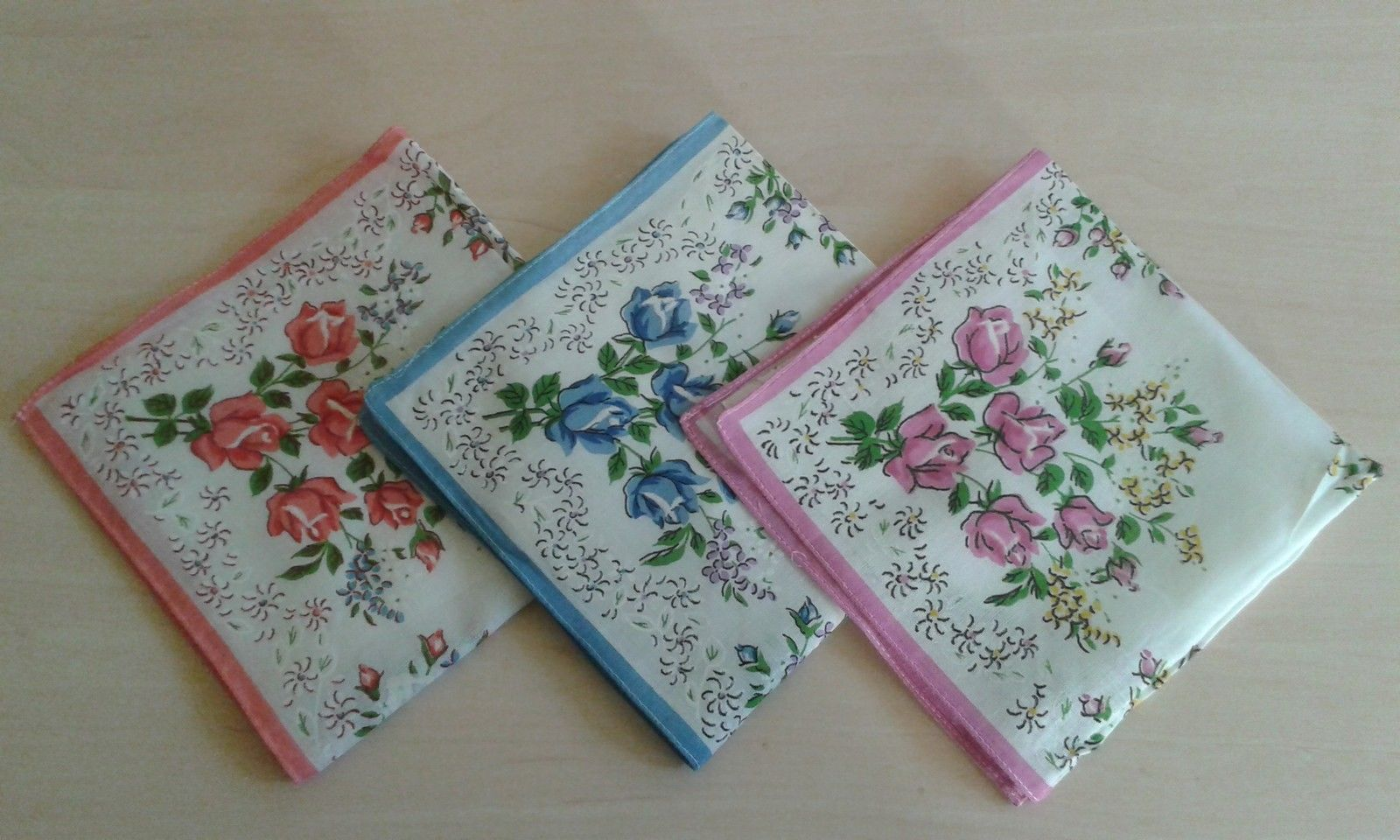3 Stück Taschentücher bunte Blumen Baumwolle, aus DDR /Chinataschentücher   eBay