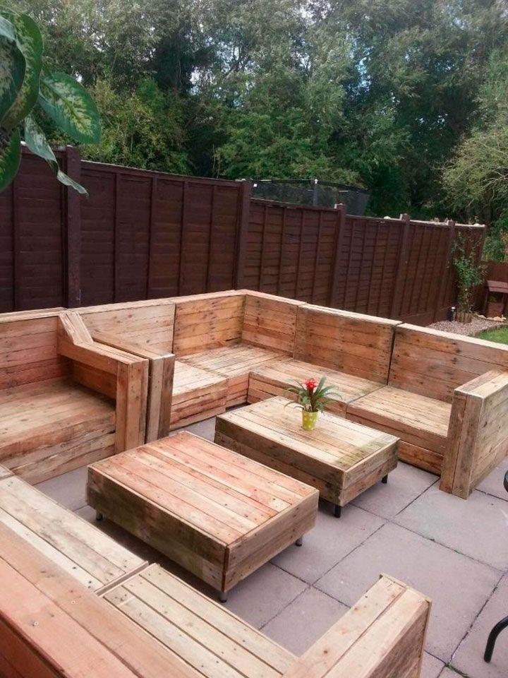 muebles de palets para el jardn exterior casas de adobe 1 pinterest jardines exteriores palets y jardn - Muebles Jardin Palets