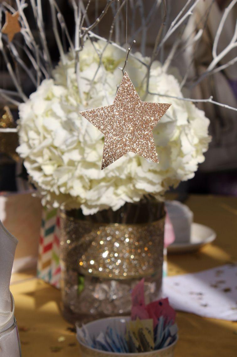 Twinkle star centerpieces my twin baby shower