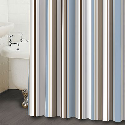 Famous Home Fashions Wallace Striped Shower Curtain