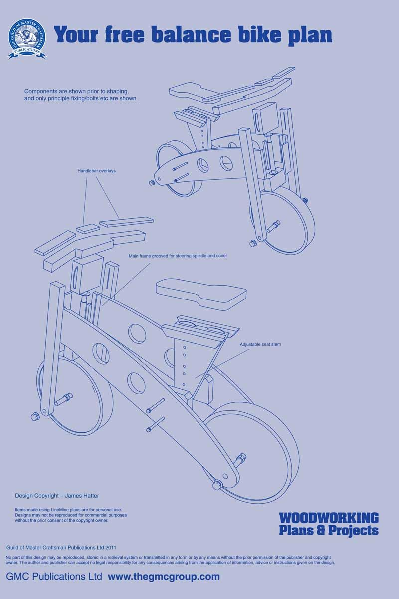 balance bike - the woodworkers institute | bicycles | hračky