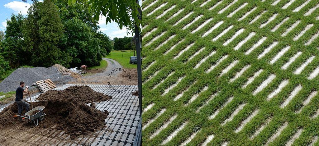 Dalles gazon jardin pinterest gazon dalles et garage - Dalle gazon beton ...