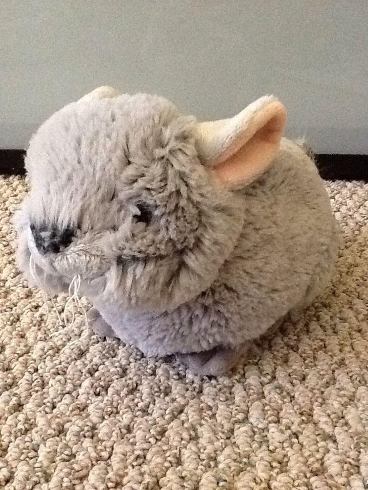 Webkinz Ganz Chinchilla 10 Plush Gray Stuffed Animal Only No Code