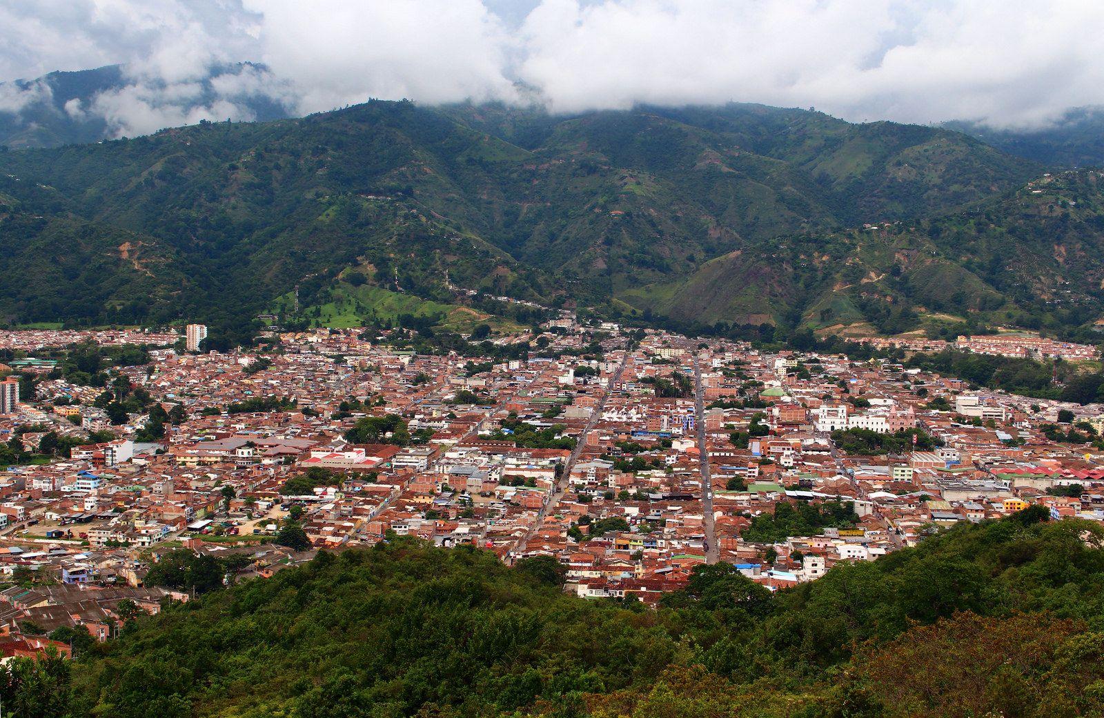 Piedecuesta Santander Colombia Natural Landmarks Dolores Park Aerial