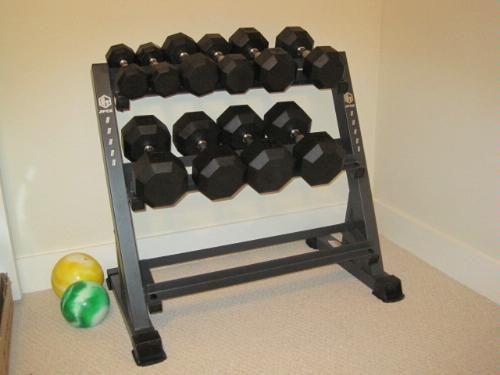 apex deluxe 3 tier dumbbell rack