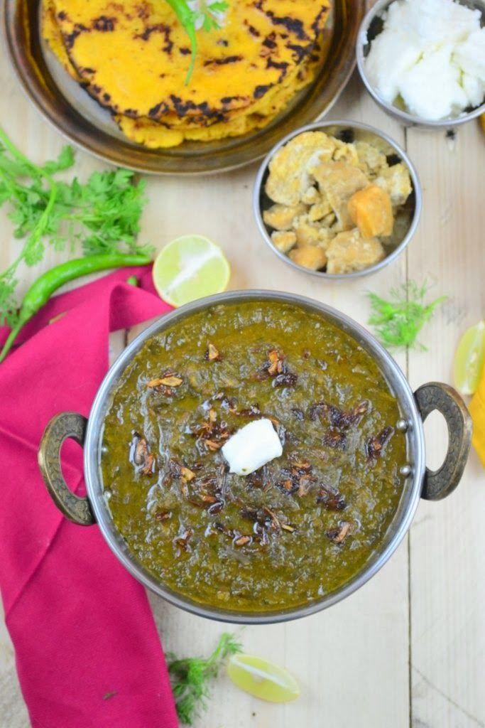 Indian Food Vegetarian Recipes Sarson Saag