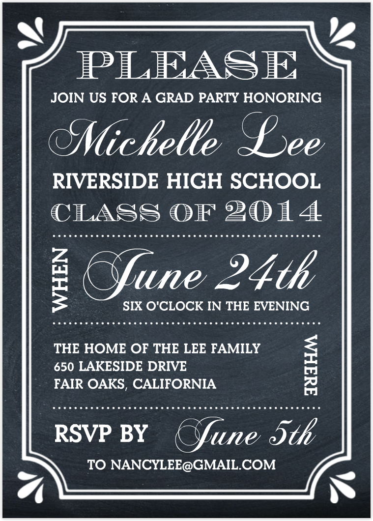 how to make grad party invitations