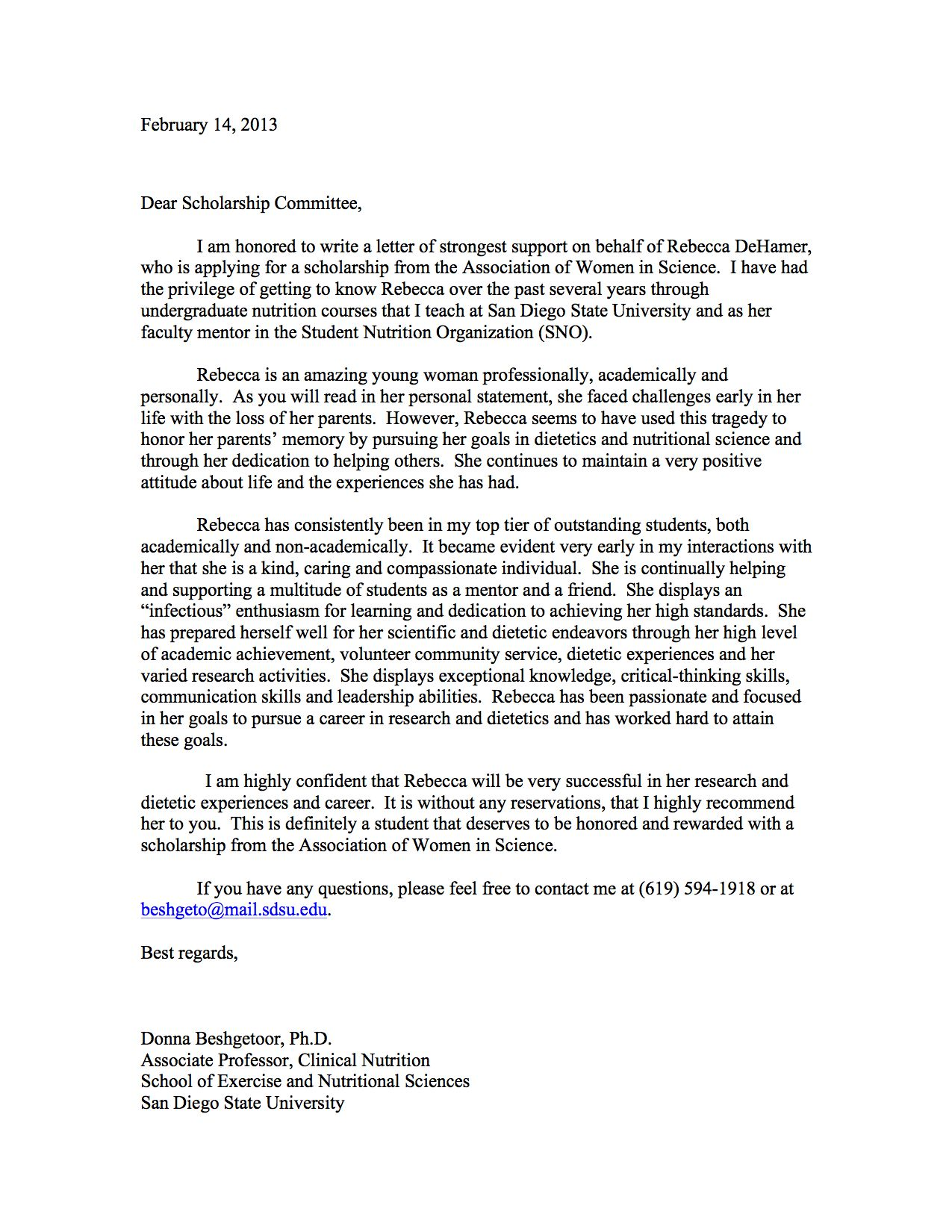 How To Write A Recommendation Letter Bbq Grill Recipes Scholarship