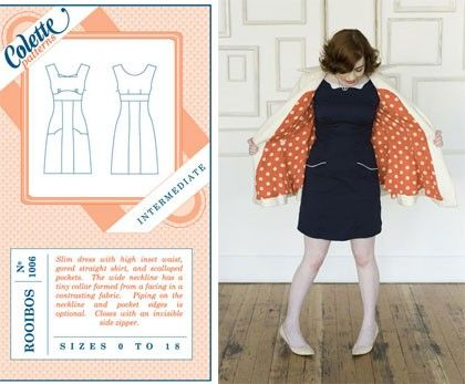 Colette Sewing Pattern, Rooibos Dress Size 2 - 20 (UK) | A girl ...