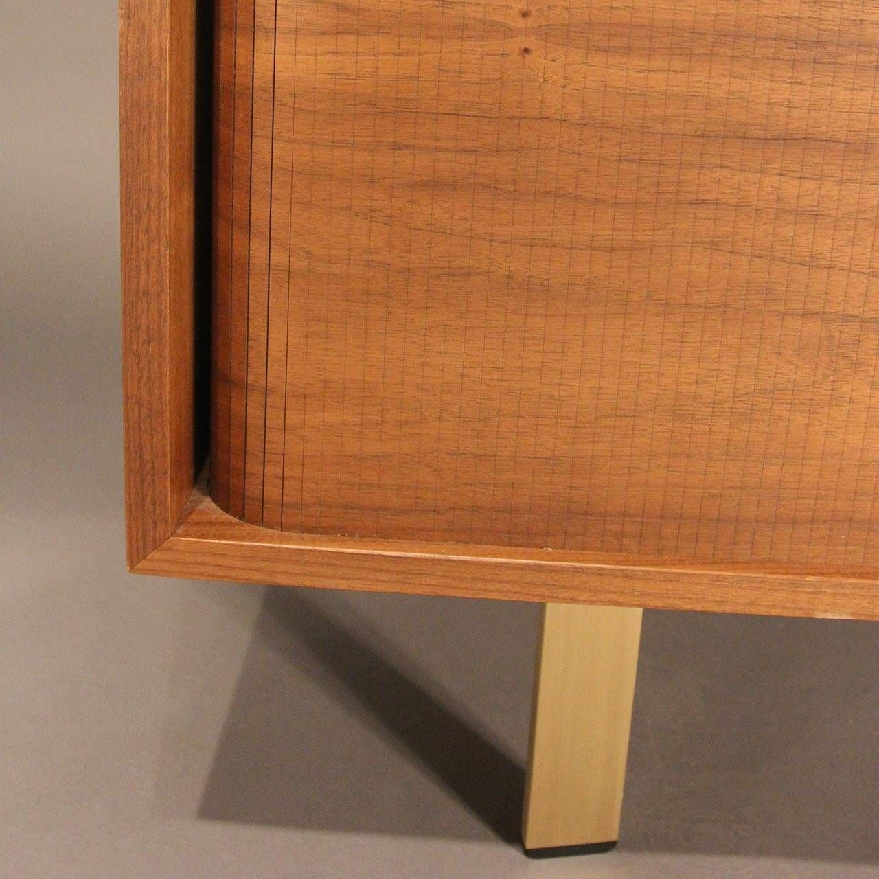 Walnut Credenza With Brass Hardware And Tambour Doors 6 Diy