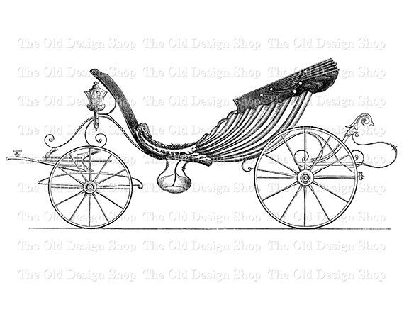 Horse Drawn Carriage Park Phaeton Printable By Theolddesignshop