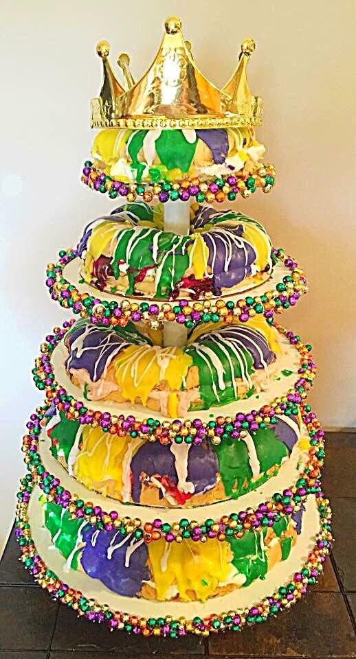 Mardi Gras King Cake Tower by Chesa Lefet | MARDI GRAS...LOUISIANA ...