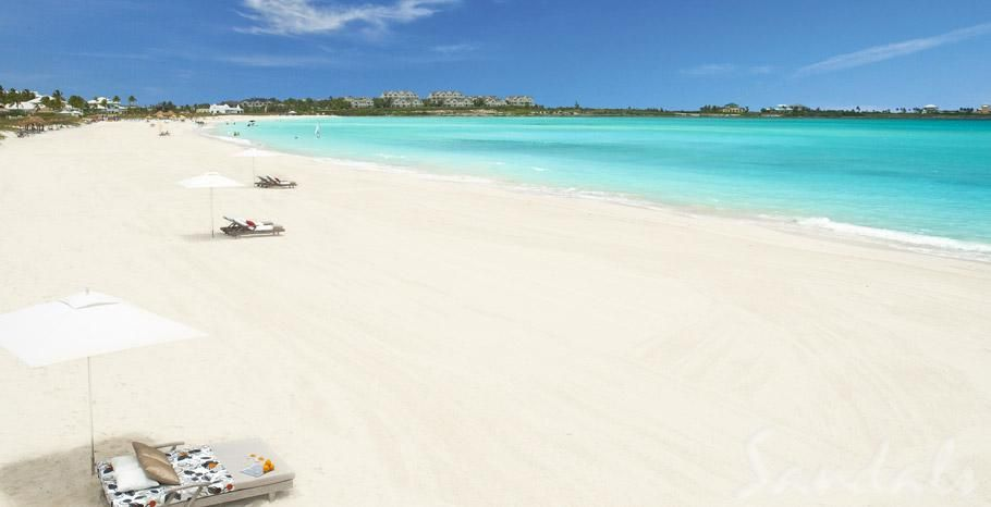 Have your wedding on the beach at Sandals Emerald Bay in