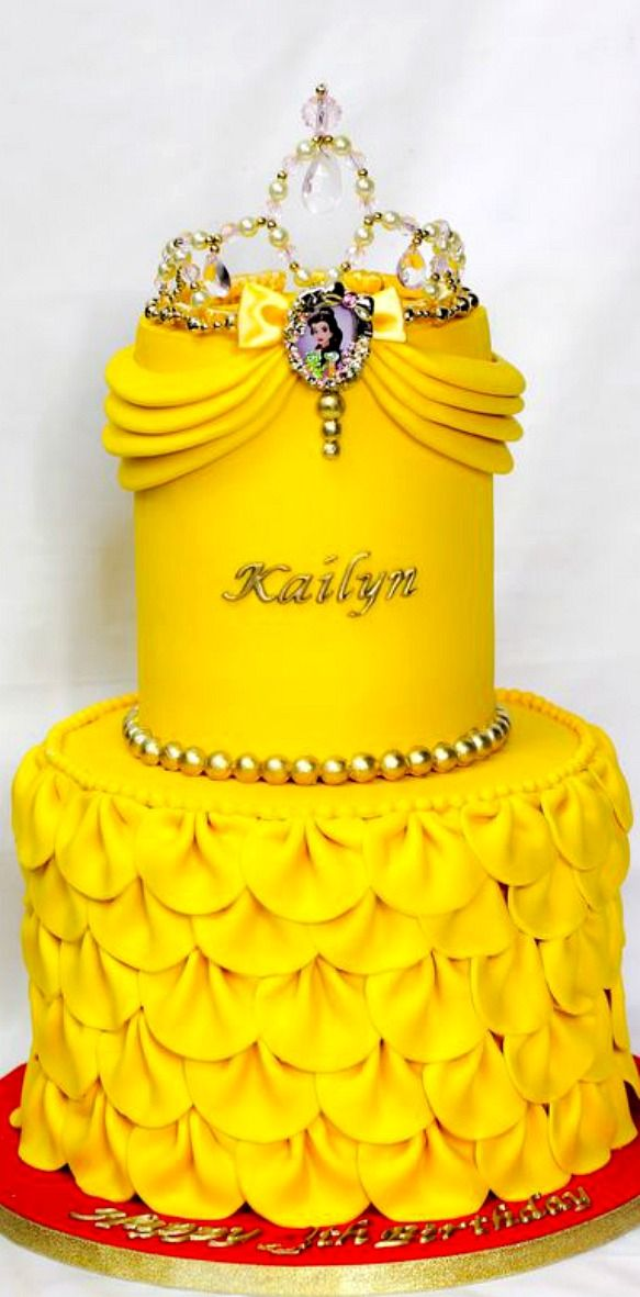 Belle Inspired Birthday Cake Kuchen Ideen Pinterest Birthday