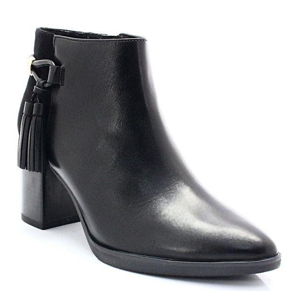 Caprice 9 25308 29 Czarne Skorzane Botki Z Fredzelkami Buty Damskie Botki Pora Roku Damskie Jesien Pora Roku Damskie Zima Bu Boots Shoes Ankle Boot