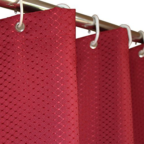 Eforgift Waffle Weave Shower Curtain Polyester Fabric Mildew