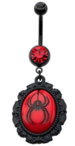Black Widow Belly Ring