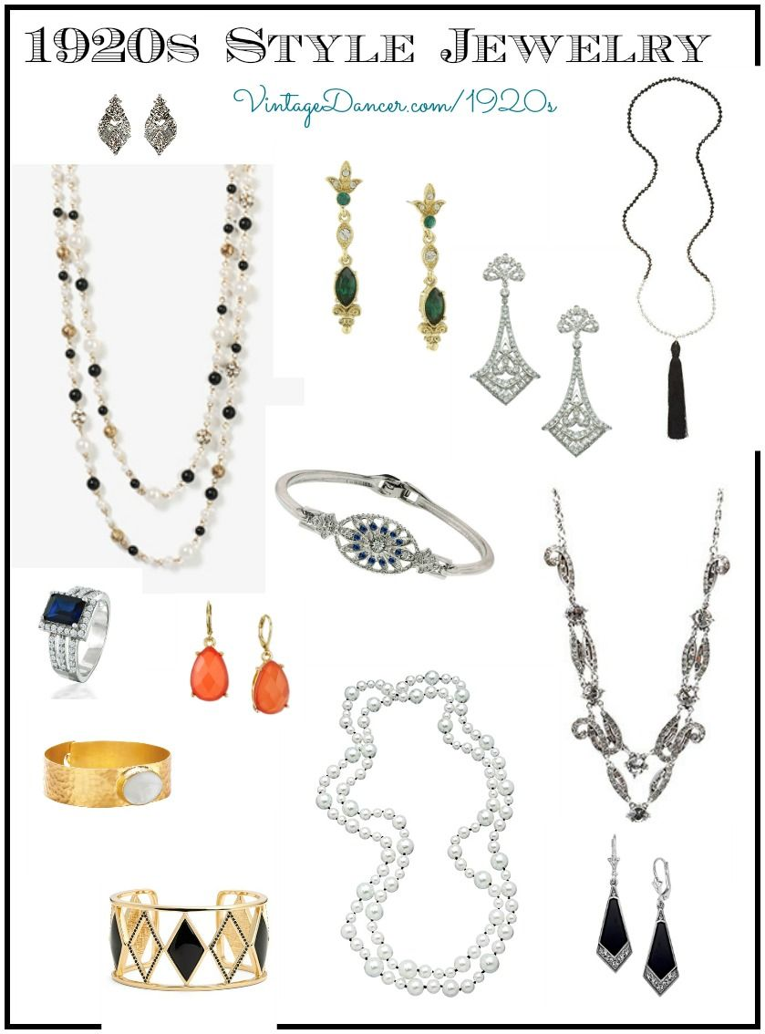 Ladies 1920s Jewelry Styles Fashion For Flappers 1920s Jewelry Vintage Jewelry 1920 Gatsby Jewelry