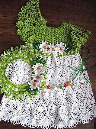 Beautiful crochet pattern baby dress - step by step free - Crochet ...
