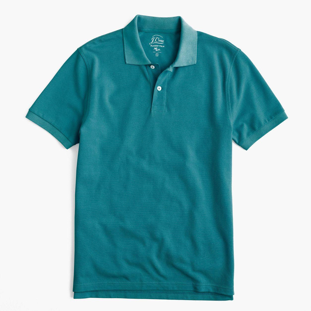ccb51e6dd21 J.Crew Mens Slim Classic Piqué Polo Shirt (Size XS)   Products ...