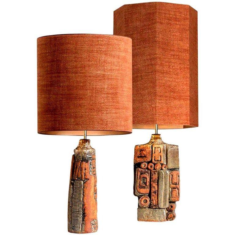 Pair Of Bernard Rooke Ceramic Lamps In 2021 Ceramic Lamp Ceramic Table Lamps Pottery Lamp