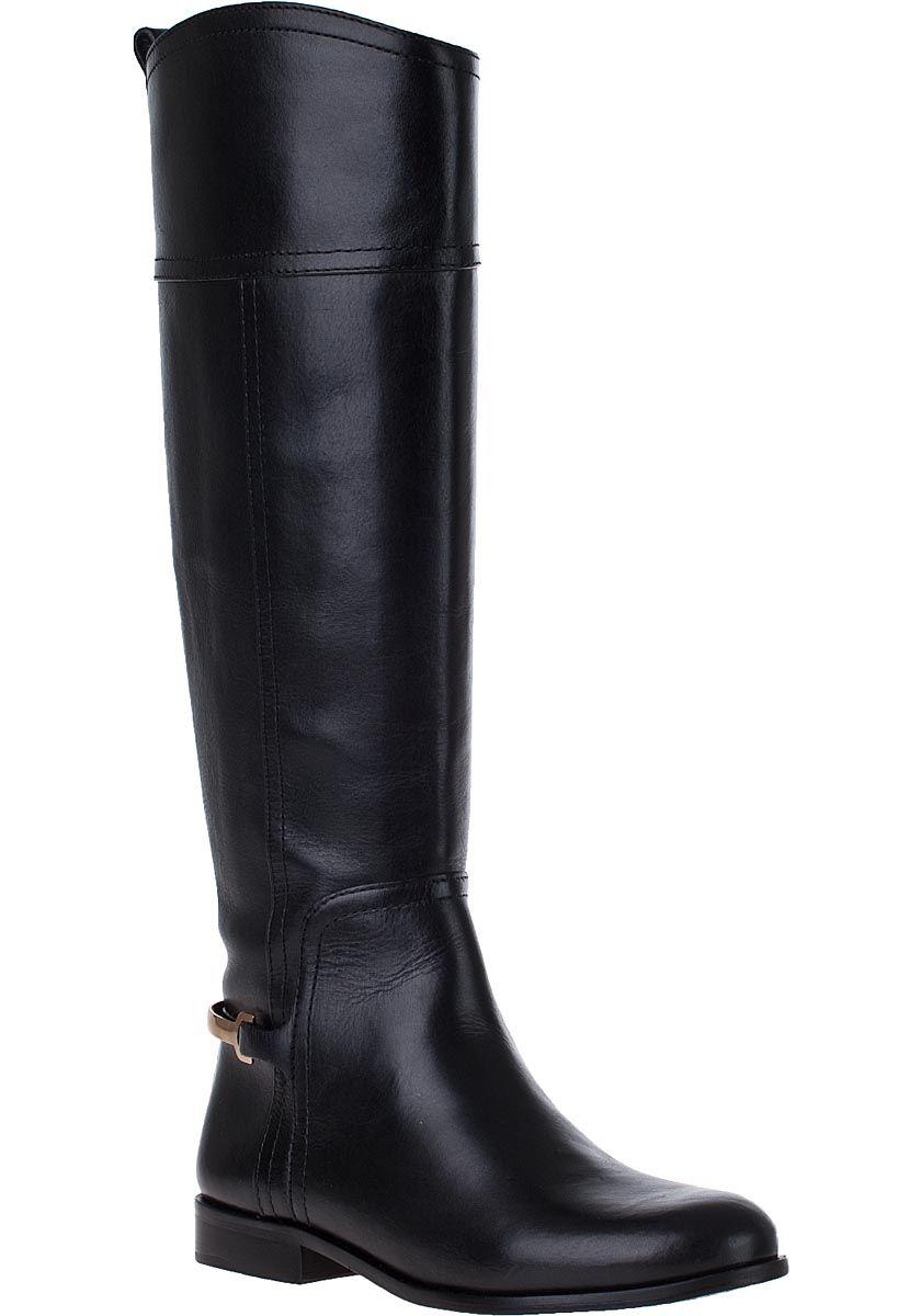 53aef35f1f6 Tory Burch - Jess Riding Boot Black Leather