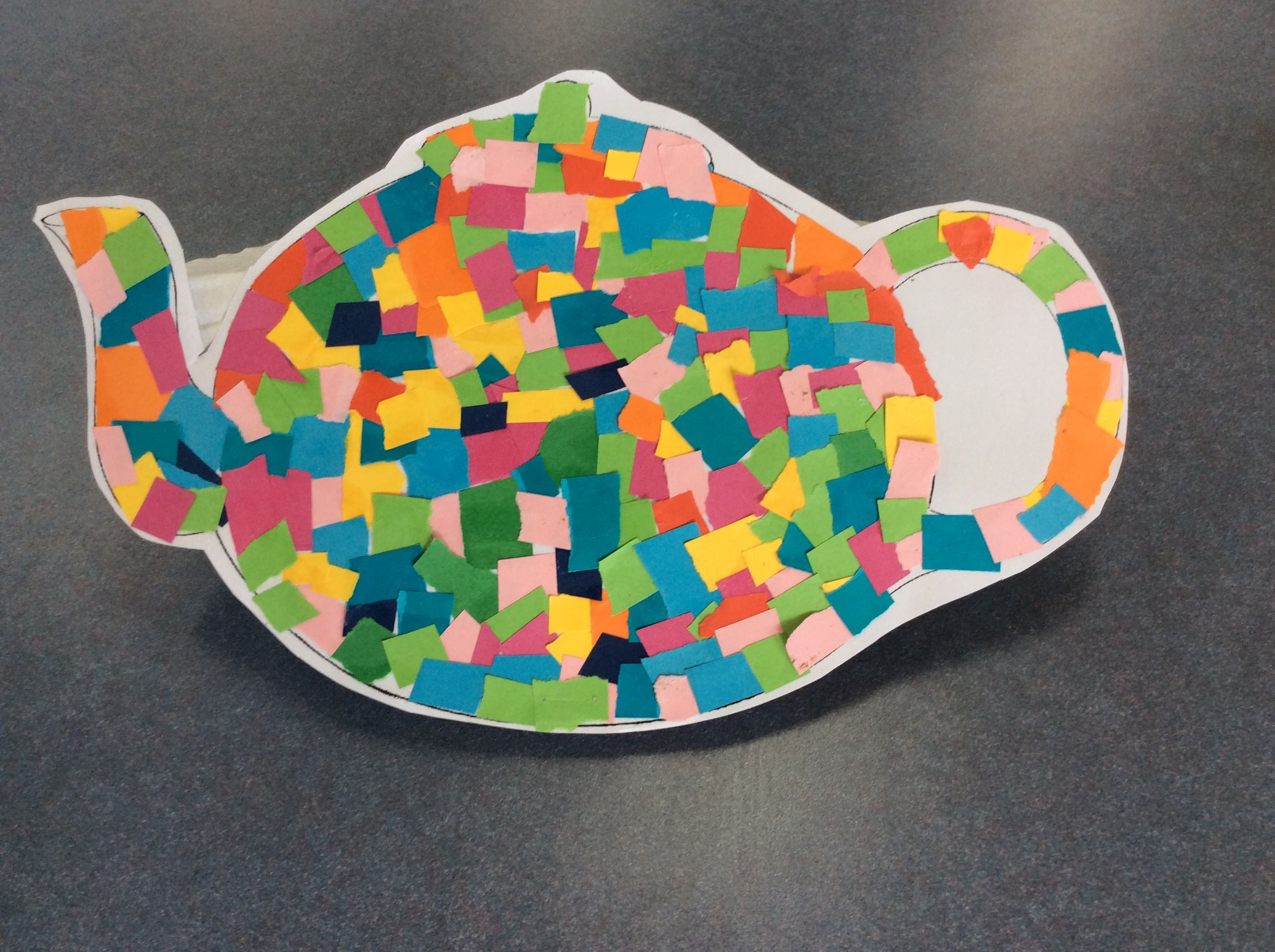 I M A Little Teapot Craft The Children Created Her Mosaic Teapot