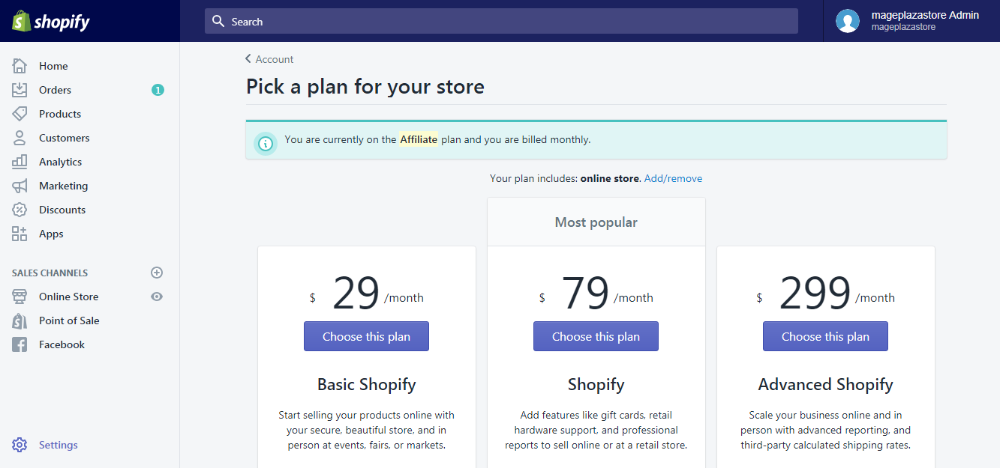 How to Change Your Plan on Shopify in 2020 How to plan