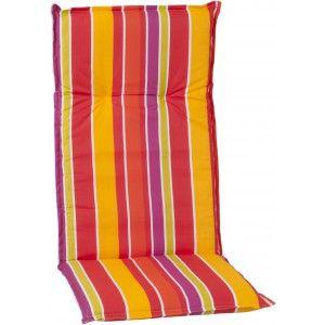 Auflage Fur Hochlehner Sessel In Streifen Rot Gelb Orange Gelb Rot Lehner