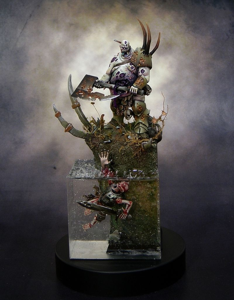 Nurgle Lord painted by Mark Soley