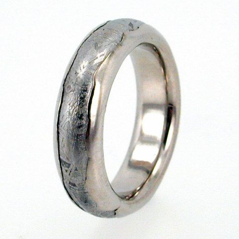 new ring mens meteor gold rings meteorite of rose wedding