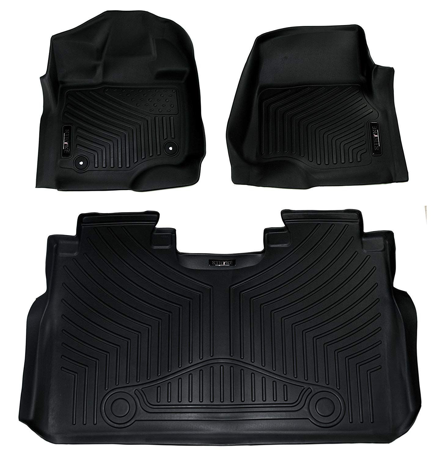 2015 2018 Ford F 150 Weathertech Floor Liners Full Set 1st Row Bucket Seating Includes 1st And 2nd Row Fits Sup Ford F150 Floor Liners Weather Tech