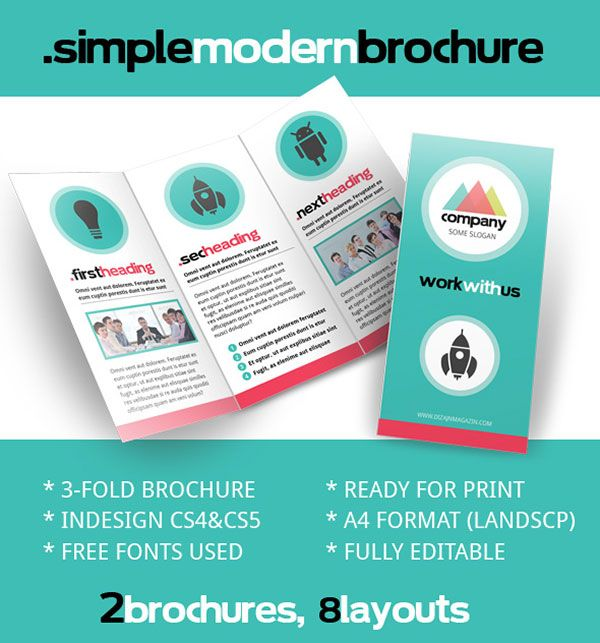 Free PSD InDesign \ AI Brochure Templates Brochures, Brochure - pamphlet sample