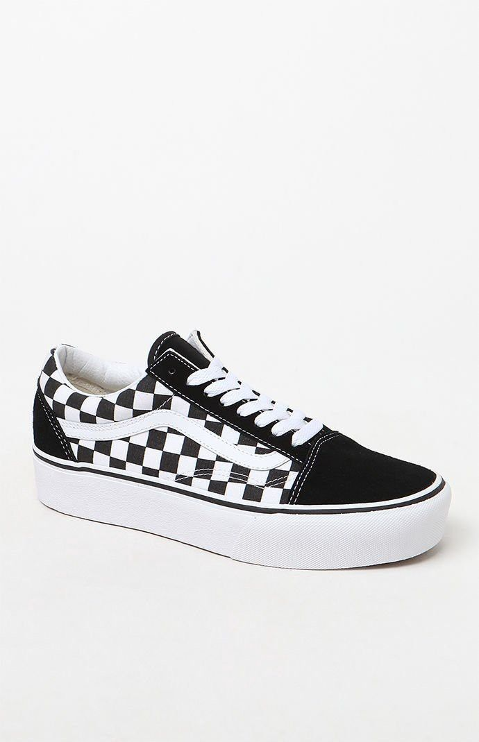 Vans Women's Old Skool Platform Sneakers 4 | White shoes
