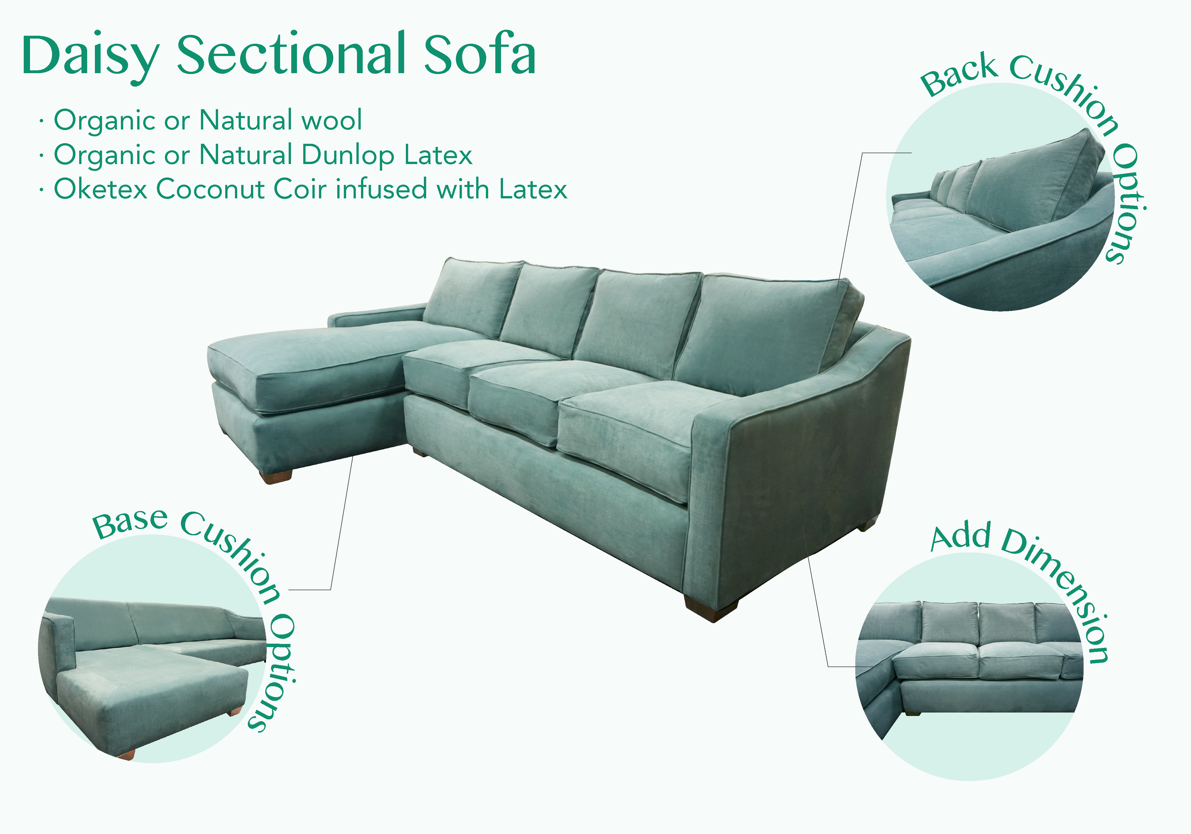 Fantastic Daisy Sectional Sofa Organic And Natural Ingredients In 2019 Machost Co Dining Chair Design Ideas Machostcouk