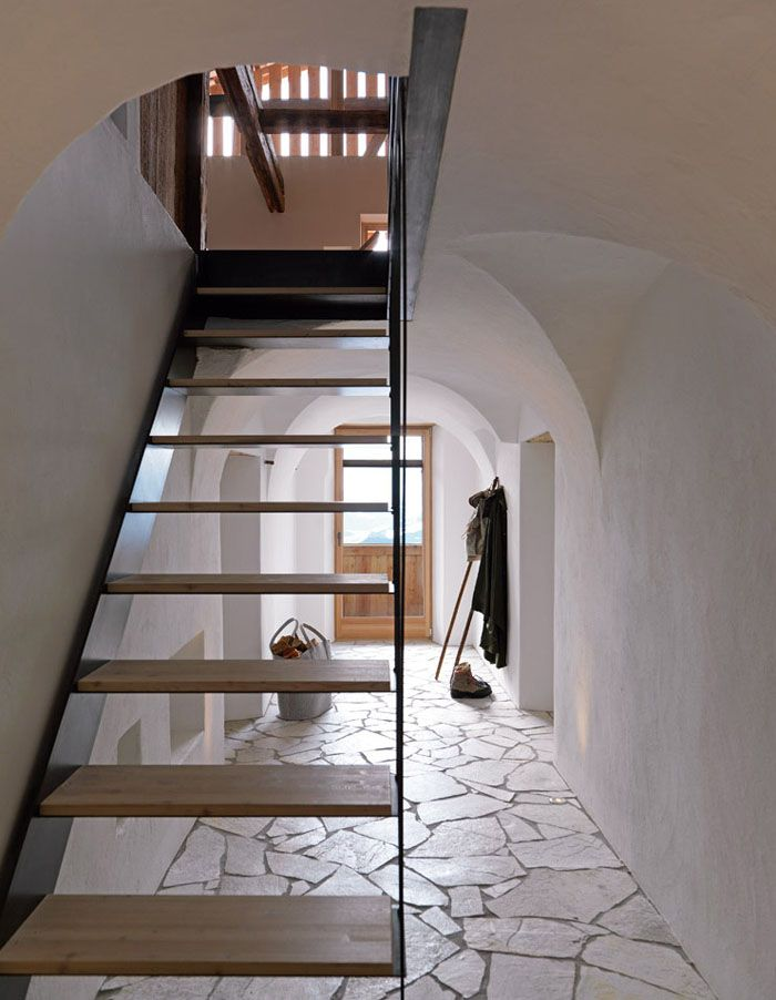 casas rusticas interior escalera google search