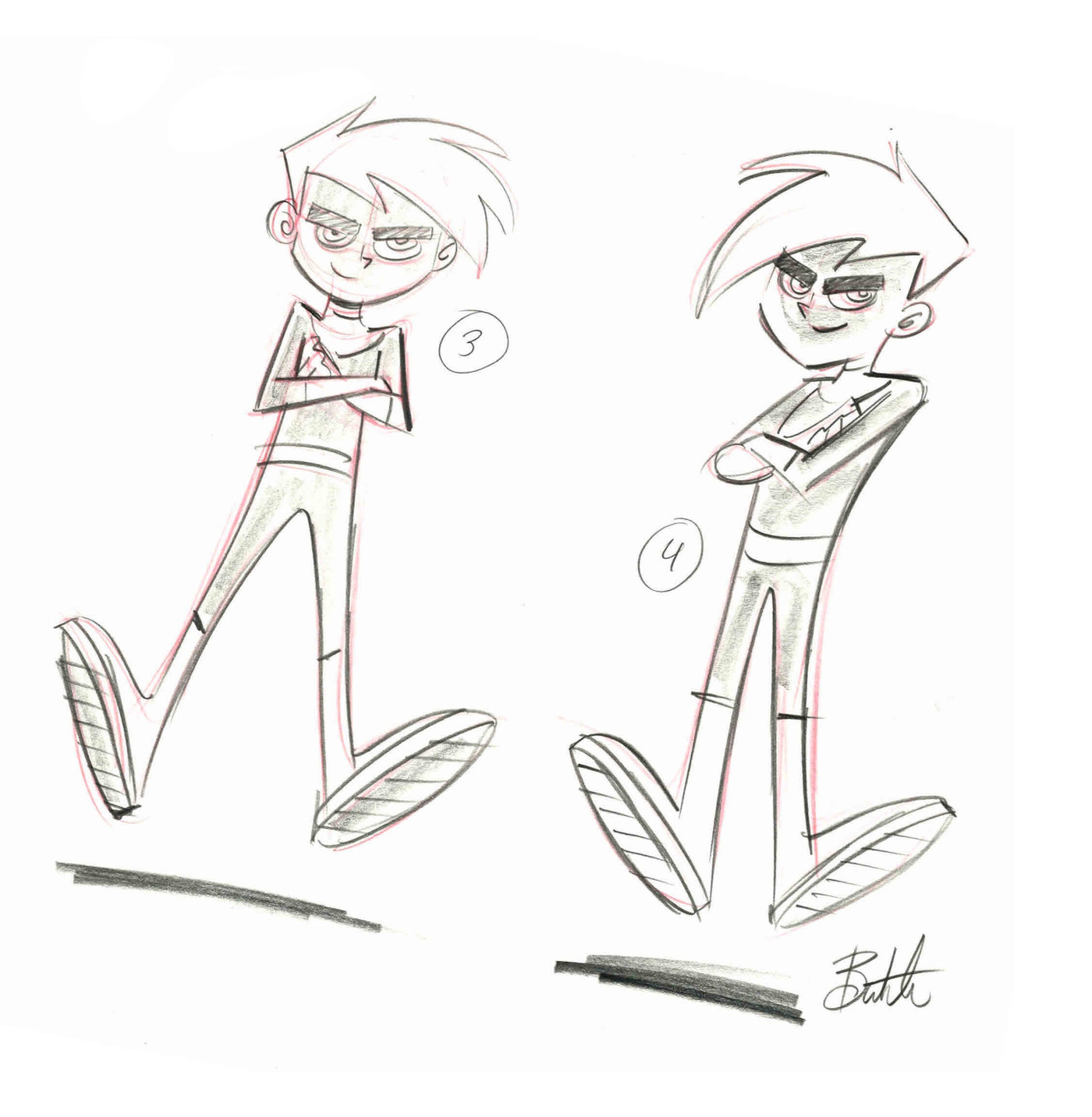 Image and information are the intellectual property of Butch Hartman. Retrieved from: http://butchhartman.tumblr.com Danny concept poses, 2001