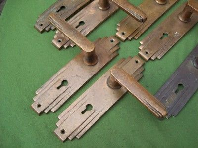 Fine set of 11 reclaimed vintage antique 1930 39 s art deco for 1930s interior door handles