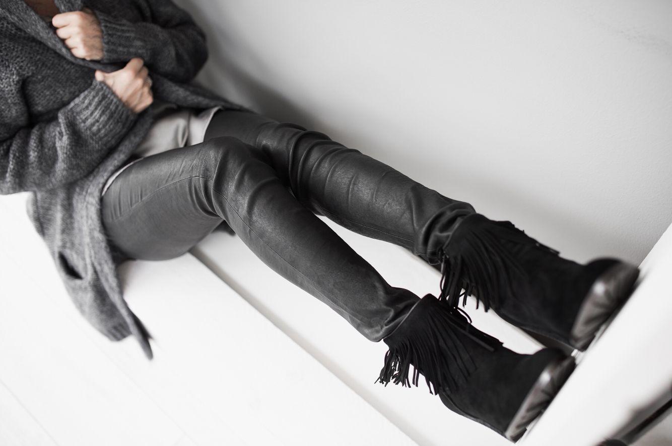 AW15 #leatherpants #selectedfemale #shoes #stylesnob #cardigan #haliharmonyliving #kauniainen #shopping #lifestyle
