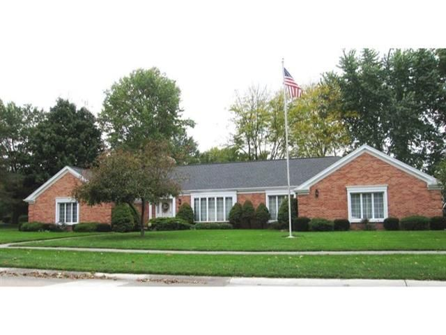 22 Patrician Drive, Norwalk, OH  Beautiful custom built brick ranch on 12 acre lot in Executive Estates Subdivision. 3 bedroom 3 bath 2 12 car garage. Gracious entrance foyer formal living and dining rooms. Large family room with fireplace opens to everyday eating area and kitchen office den master bedroom with private bath and lots of closets. Main floor laundry huge lower level game room with fireplace storage rooms - nicely landscaped lot. Please ask for Norma.