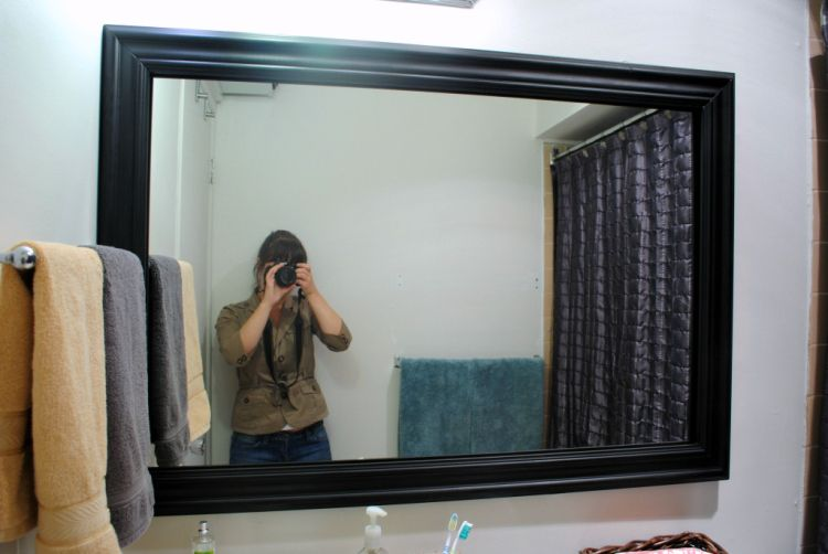Temporary Mirror Frame