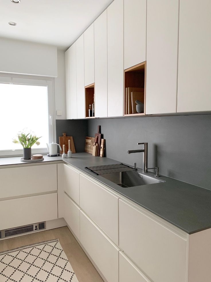 Photo of # small kitchen # small room # wall cabinets # kitchen plan …