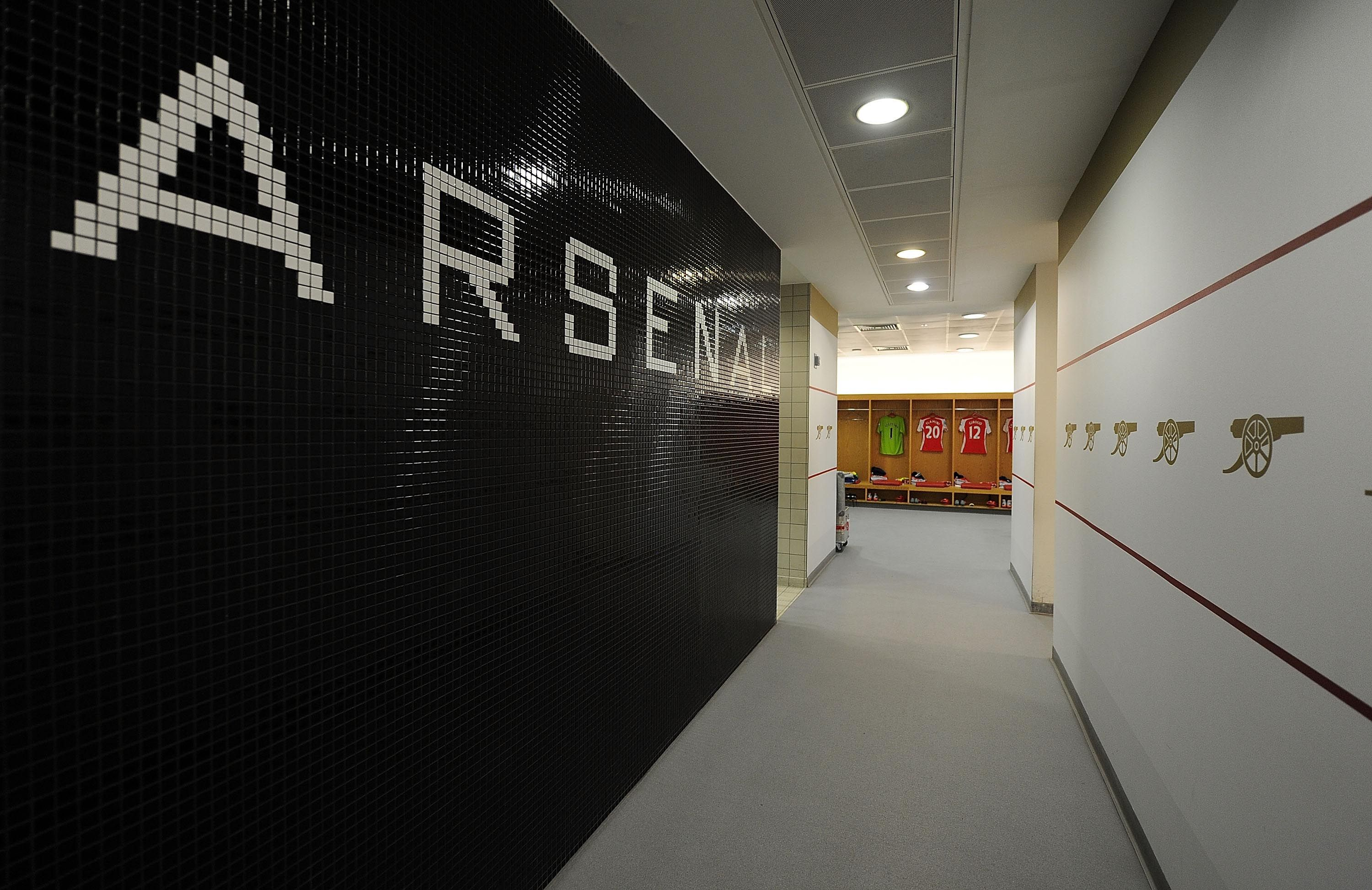 Looking Around Arsenal S Emirates Stadium Walking Into The Home Dressing Room
