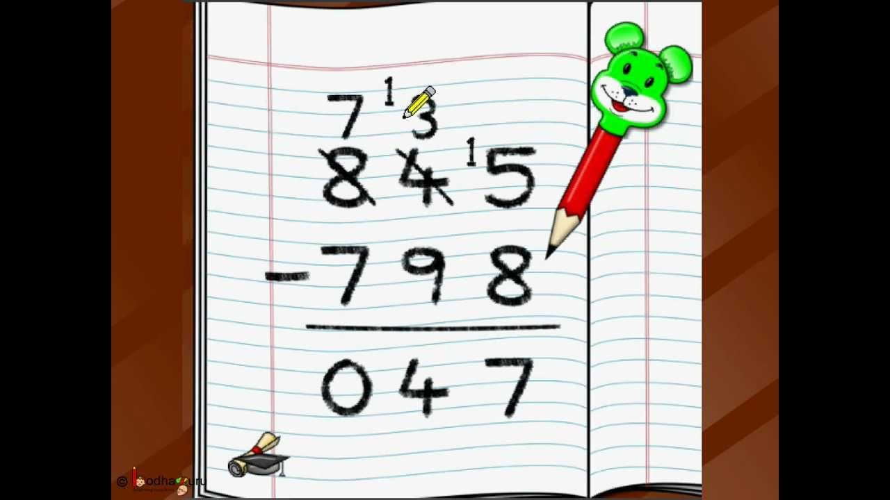 Maths Three Digit Subtraction English Subtraction Math Worksheets Math Subtraction [ 720 x 1280 Pixel ]