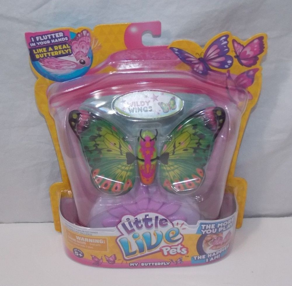 Little Live Pets My Butterfly Wildly Wings Orange Green Pink Interactive New Little Live Pets Moose Toys Pets