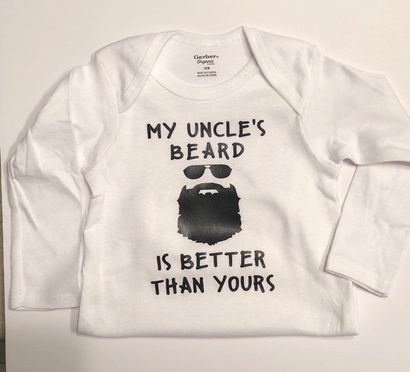 6fc892215 Excited to share this item from my #etsy shop: Funny uncle onesie, beard, my  uncle's beard is better than yours