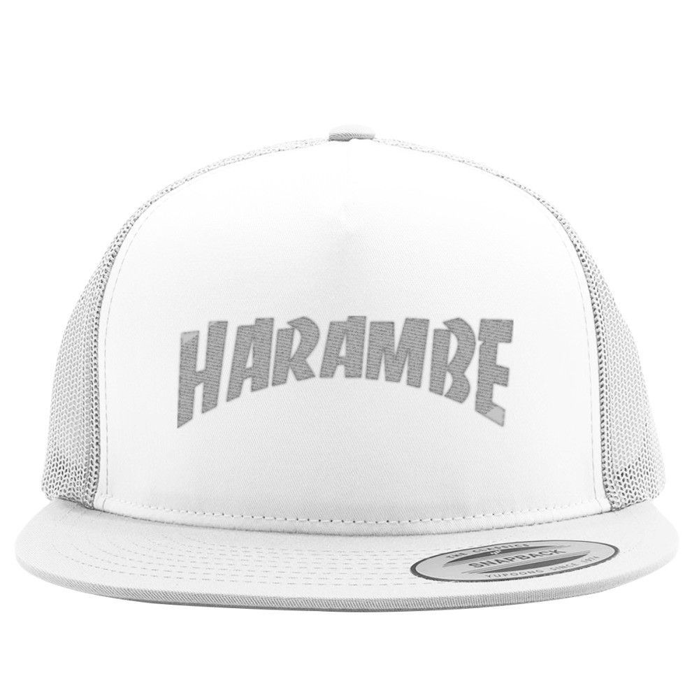 Rest In Peace Harambe Embroidered Trucker Hat