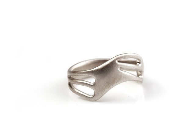 district sterling silver ring by ModMetal on Etsy, $130.00