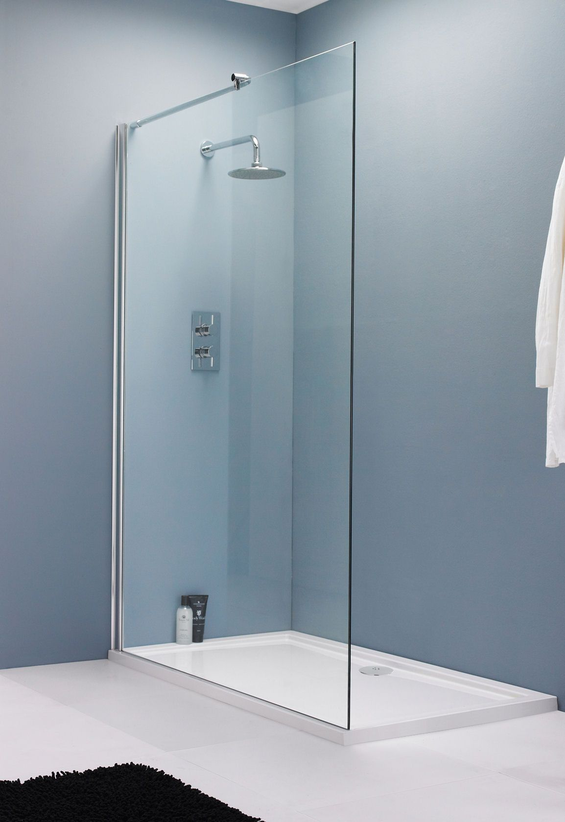 Breathtaking Wet Bathroom Concept Added Gl Shower Divider Panels With Chrome Rain And