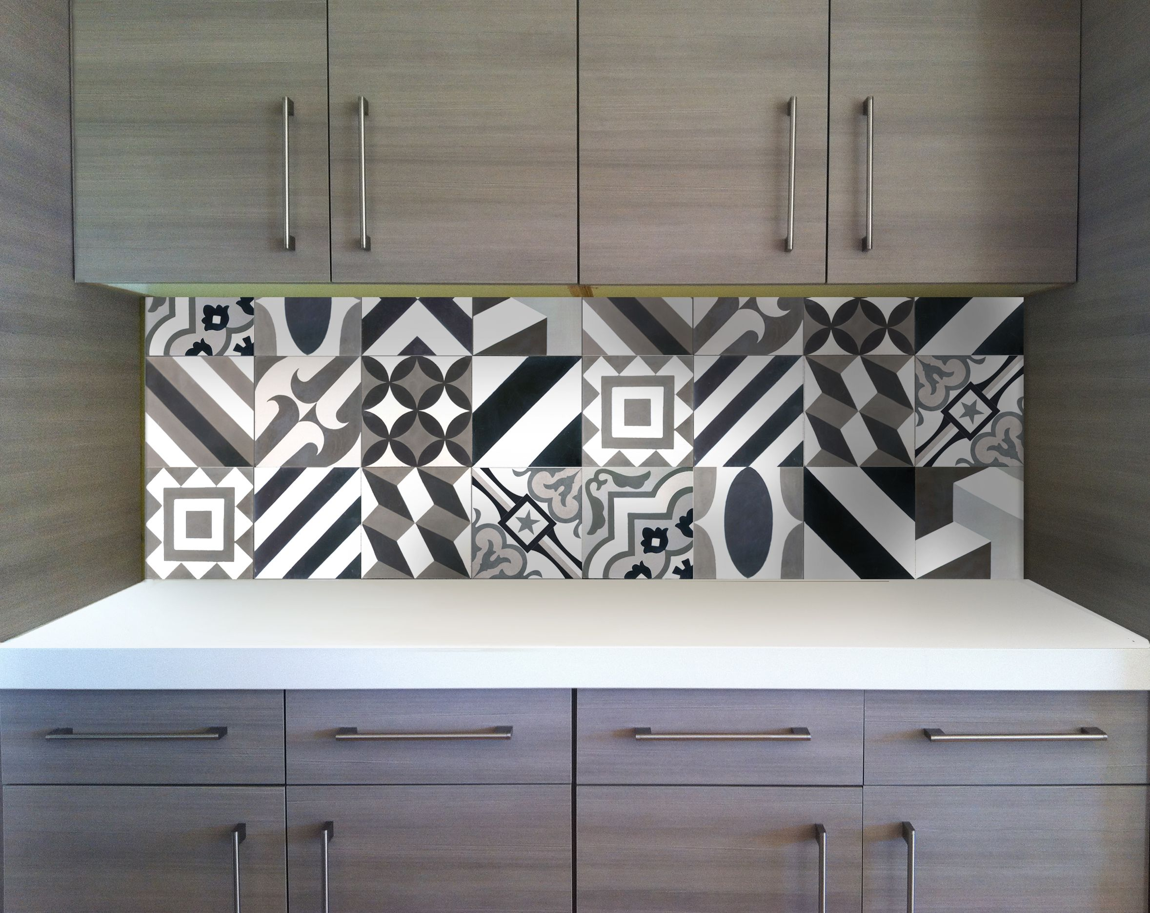 patchwork cement tile installation - available in stock! at clé ...